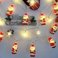 1.5M/3M LED Christmas Santa String Lights LED Fairy Lights for Festival Party Christmas Decoration
