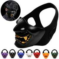 Halloween Party Home Decoration Tactics Cosplay Half Face Mask Toys For Kids Children Gift