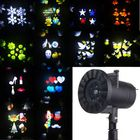 Meilleurs prix 12 Patterns 4 LED Projector Light Stage Light Motion Rotating Holiday Light Christmas Halloween