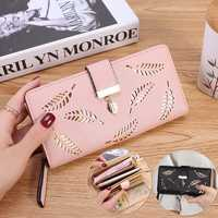 Women PU Leather Large Capacity Zipper Pouch Card Slot Wallet for Xiaomi Moible Phone Under 5.5 Inch