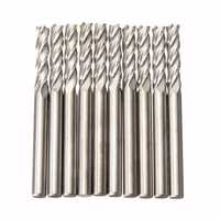 10pcs 3.175mm Shank Carbide Milling Cutter CNC 4 Flute Spiral Bit End Mill CEL 15mm