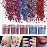 Shining Mixed Glitter Powder Sequins Decoration 3D Dust Red Purple Halloween Nail Art Ornaments