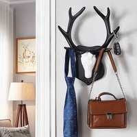 2 Kinds Vintage Deer Antler Hook Rack Home Decorative Wall Hat Coat Hanging Cloth Hanger