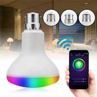 E27 B22 E26 7W RGB LED Bulb Wireless WIFI Remote Control Work with Amazon ECHO Google Home AC85-265V