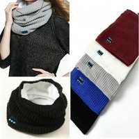 Wireless bluetooth Headphone Scarf Winter Outdooors Music Wireless Warm Scarf Neckerchief With Mic
