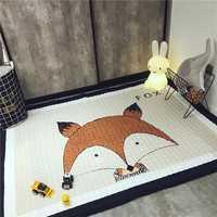 145 x 195 cm Decoration Homemade Cartton Animal Kids Room Carpet Fox Baby Play Mat Patchwork Blanket Picnic Anitslip Rugs