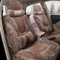 Plush Car Front and Back Seat Cushion Winter Warmer Cover Pad Chair Protector Universal