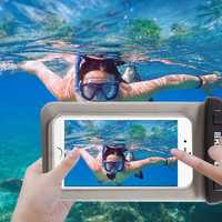 Universal IPX8 Waterproof Touch Screen Phone Bag Bumper Case for Phone Under 5.5inch