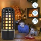 Prix de gros Portable Wireless bluetooth Stereo Speaker Rechargeable Flame Effect Night Light for Indoor Outdoor