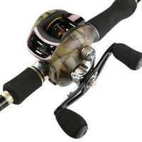 ZANLURE High Speed 8.1:1 Ratio 18+1BB Baitcasting Fishing Reel Metal