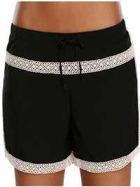 Lace Stitching Boxer Pants Swimming Trunks