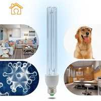 E27 15W 20W UV Ozone Sterilization Anti-Bacterial Ultraviolet Disinfection Germicidal Lamp AC220V