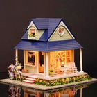 Promotion CuteRoom DIY Wooden Dollhouse Miniature With House Furniture Toy Gift For Children Bicycle Angle Kit