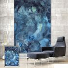 Offres Flash PAG Wall Decor Window Curtain Roller Shutters Abstract Watercolor Painting Roller Blind Background