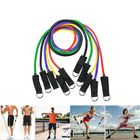 Promotion 11Pcs Natural Rubber Latex Fitness Resistance Bands Exercise Elastic Pull String Work Exercise Yoga Training Set