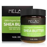 Melao Natural Shea Butter Moisturizing Butter Hair Skin 250g