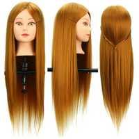 30% Real Human Long Hairdressing Cut Mannequin Hair Training Head Salon