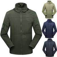 Mens Outdoor Activity Sports Waterproof Windproof Fleece Warm Jacket