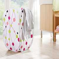 Bathroom Foldable Washing Clothes Basket Laundry Bag Storage Hamper Bin Clothing Storage