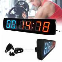 KALOAD 4in 6 Digits Giant Large LED Interval Clock Sports Gym Fitness Crossfit Tabata Timer Sports Exercise Accessories