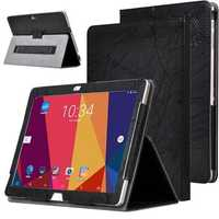 PU Leather Folding Stand Case Cover for ALLDOCUBE Cube T10 Plus Free Young X7 Tablet Black