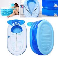 51.2x27.6x27.6inch Inflatable Travel Non-toxic Thick Bathtub Friendly Folding PVC Adult Bath Tub