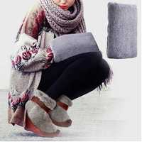 Flannel Anti-explosion USB Electric Hand Belly Warmer Heater Back Neck Supporter Cushion