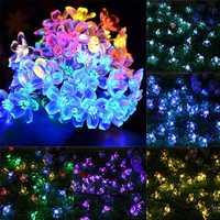 Solar Blossom Flower Fairy String Light 23FT 50LED Home Garden Wedding Decor