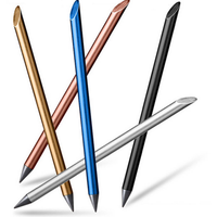 Metal Non-Ink Trendy Pens 0.5mm Fineline Painting Drawing Writing Beta Pen Office School Supplies