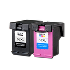 Recommended ZSMC HP63 Ink Cartridge for HP63XL Original Ink Cartridge for DeskJet 1110 1115 2130 2135 3630 3830 OfficeJet 465 Printer