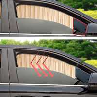 Universal Summer Satin Car Side Window Sunshade Curtain Sun Visor Blinds Cover UV Protector Auto Styling