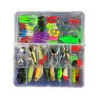 ZANLURE 106pcs All Depth Mixed Fishing Lure Sets Hard Baits/Soft Lures Fake Artificial Bait With Box