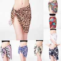 KCASA KC-X2 Coqueta Woman Swimwear Chiffon Cover up Bohemian Style Beach Towel Sarong Pareo Canga Sw
