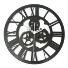 Promotion Vintage Wall Clock Rustic Art Big Gear Wooden Handmade Home Bar Cafe Decor Gift 32cm