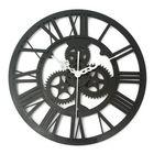 Offres Flash Vintage Wall Clock Rustic Art Big Gear Wooden Handmade Home Bar Cafe Decor Gift 32cm
