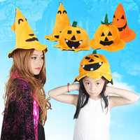 Halloween Pumpking Hat Cap Masquerade Costume Party Prop Fit All Age