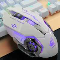 Free Wolf 4000DPI 6 Button LED Optical Gaming Mouse Mechanical Macro Programmable for PC Laptop