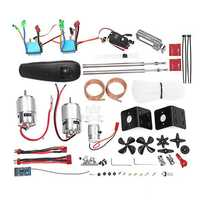 12V 775 Double-Motor 400m 2.4G Differential Turn Transmitter Fishing RC Boat Parts