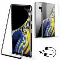 Bakeey Magnetic Adsorption Tempered Glass Back Cover+Tempered Glass Screen Protector Protective Case For Samsung Galaxy Note 9