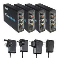 HD to 3 RCA AV CVBS Composite & S-Video R/L Audio Converter Adapter