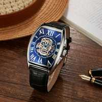 SEWOR Fashion Hollow Skeleton Pattern Mechanical watch