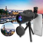Prix de gros 40x60 Monocular Ultra HD Optical Lens Low Light Night Vision Telescope + Clip + Tripod For Phone