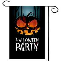30x45cm Halloween Party Polyester Pumpkin Flag Garden Holiday Decoration