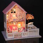 Meilleur prix Cuteroom 1/24 DIY Wooden Dollhouse Pink Cherry Handmade Decorations Model with LED Light&Music Birthday
