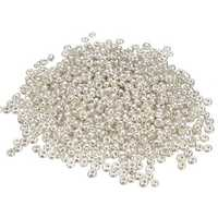 500Pcs 2mm Silver Glass Spacer Beads Loose Beads DIY Jewelry Accessories