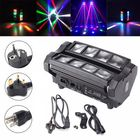 Les plus populaires 24W RGBW 4 IN 1 DMX512 LED Spider Beam Moving Head Stage Lighting DJ Party Disco