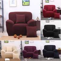 Four Seater Solid Colors Textile Spandex Strench Elastic Sofa Couch Cover Furniture Protector