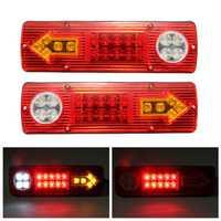 2x 12V LED Trailer Truck Rear Tail Brake Stop Turn Light Indicator Reverse Lamp