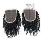 Offres Flash 6A 4X4 Kinky Curly Virgin Hair Lace Closure Wave Brazilian Human Hair Closures Free Middle Par