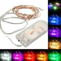 1M Battery Powered 10 LED Copper Wire Fairy String Light Wedding Xmas Party Lamp